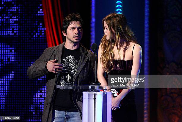 Freddy Rodriguez and Devon Aoki during Spike TV's Scream Awards 2006 Show at Pantages Theater in Hollywood California United States