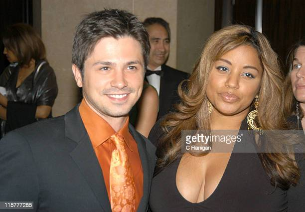 Freddy Rodriguez and Elsie Rodriguez during 2005 Imagen Awards at The Beverly Hilton Hotel in Beverly Hills Ca United States