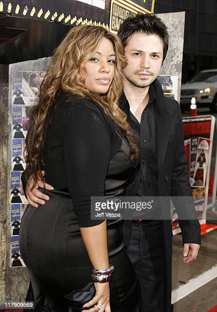 Freddy Rodriguez and Elsie Rodriguez during 'Grindhouse' Los Angeles Premiere Red Carpet at Orpheum Theater in Los Angeles California United States