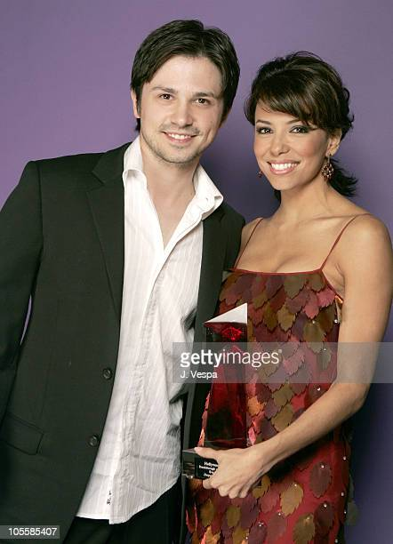 Freddy Rodriguez and Eva Longoria during Hollywood Life's 4th Annual Breakthrough of the Year Awards Portraits at Henry Fonda Theatre in Hollywood...