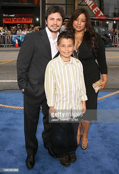 Freddy Rodriguez and Family during Poseidon Los Angeles Premiere Arrivals at GraumanIs Chinese Theater in Hollywood California United States