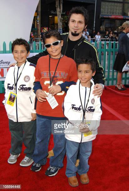 Freddy Rodriguez and guests during Disney's 'Chicken Little' Los Angeles Premiere Arrivals at El Capitan in Hollywood California United States