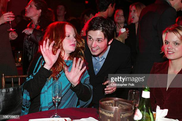 Freddy Rodriguez and Lauren Ambrose during LA Premiere of HBO's series 'Six Feet Under' After Party at The Highlands in Hollywood CA United States