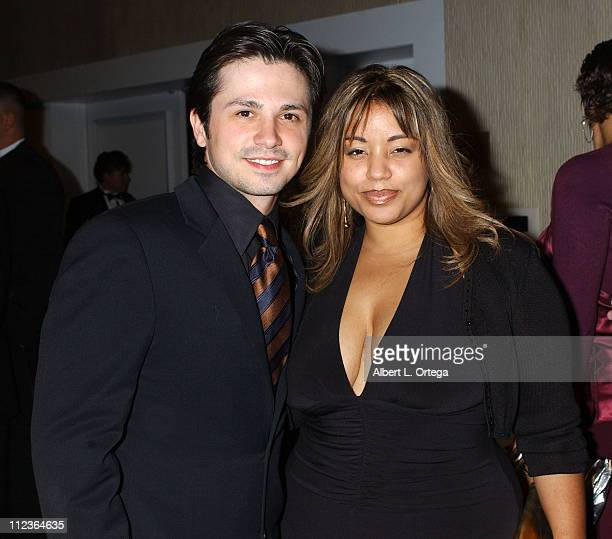 Freddy Rodriguez and wife Elsie during 34th Annual Nosotros Golden Eagle Awards Cocktail Reception at Beverly Hilton Hotel in Beverly Hills CA United...
