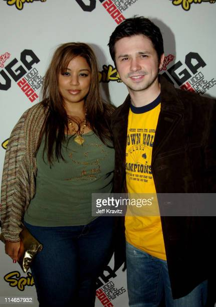 Freddy Rodriguez and wife, Elsie Rodriguez during 2005 Spike TV Video Game Awards - Red Carpet at Gibson Amphitheater in Universal City, California,...