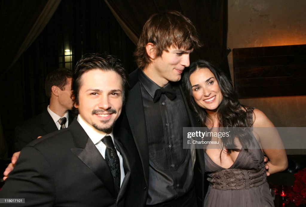 Freddy Rodriguez, Ashton Kutcher and Demi Moore during The Weinstein Company Hosts Black Tie Opening Night Gala and US Premiere of Emilio Estevez's 'Bobby' at Grauman's Chinese Theatre in Los Angeles, CA, United States.