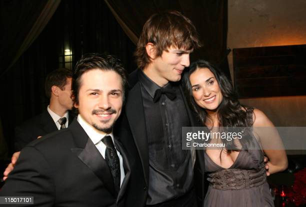 Freddy Rodriguez Ashton Kutcher and Demi Moore during The Weinstein Company Hosts Black Tie Opening Night Gala and US Premiere of Emilio Estevez's...