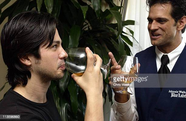 Freddy Rodriguez during 2002 Johnnie Walker Blue Gentlemen's Suite in Preparation for the 2002 Emmys Day 2 at Four Seasons Hotel Beverly Hills in...