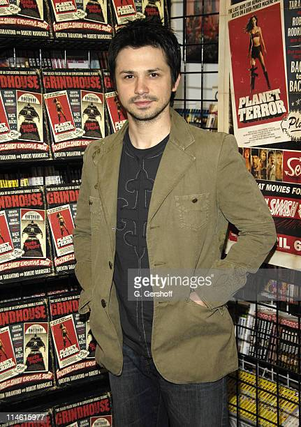Freddy Rodriguez during Grindhouse Book Signing at Jim Hanley's Universe at Jim Hanley's Universe in New York City New York United States