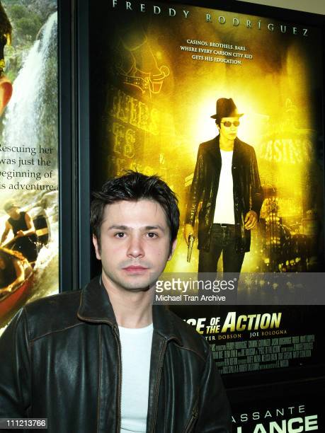 Freddy Rodriguez during 'Piece of Action' with Freddy Rodriguez at AFM November 4 2005 at Loews Hotel Santa Monica in Santa Monica California United...