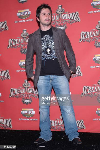 Freddy Rodriguez during Spike TV's Scream Awards 2006 Press Room at Pantages Theater in Hollywood California United States