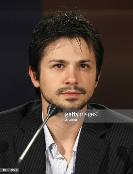 Freddy Rodriguez during The 63rd International Venice Film Festival 'Bobby' Press Conference at Palazzo del Casino in Venice Lido Italy