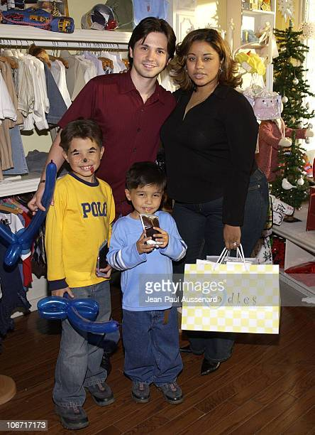 Freddy Rodriguez family during Lisa Vidal Opens 'OODLES' a Children's Clothing Store at Oodles in Studio City California United States