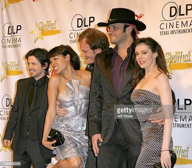 Freddy Rodriguez Rosario Dawson Quentin Tarantino Robert Rodriguez and Rose McGowan