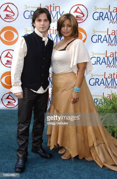 Freddy Rodriguez wife Elsie during 3rd Annual Latin GRAMMY Awards Arrivals at Kodak Theatre in Hollywood California United States