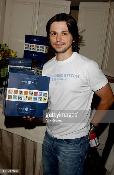 Freddy Rodriguez with This Vs That during HBO Luxury Lounge at the 55th Annual Emmy Awards at The Peninsula Hotel Magnolia Room in Beverly Hills...