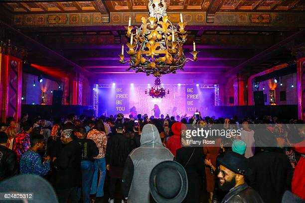 Freddy Ross aka Big Freedia performs at the AFROPUNK Fancy Dress Ball during the Red Bull Sound Select 30 Days in LA at The MacArthur on November 20...