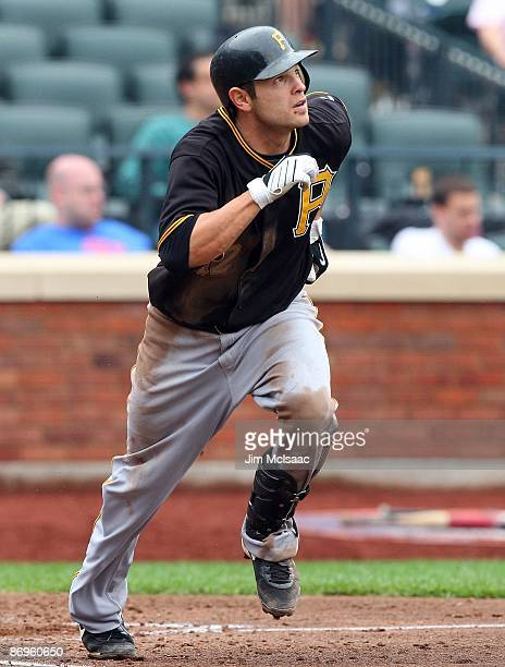 Freddy Sanchez of the Pittsburgh Pirates runs against the New York Mets on May 9 2009 at Citi Field in the Flushing neighborhood of the Queens...