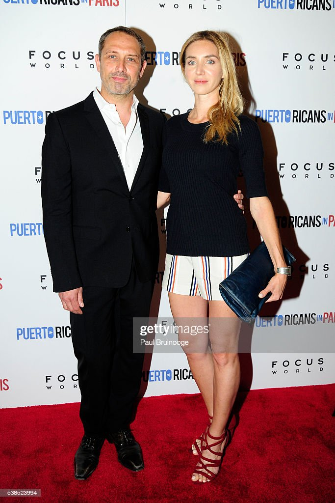 Frederic Anscombre and ? attend New York Special Red Carpet Screening of Focus World's PUERTO RICANS IN PARIS at Landmark Sunshine on June 6, 2016 in New York City.