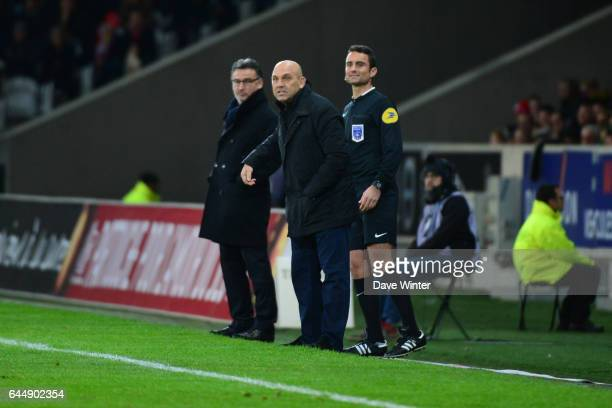Frederic ANTONETTI / Christophe GALTIER - - Lille / Saint Etienne - 16eme journee de Ligue 1, Photo: Dave Winter / Icon Sport