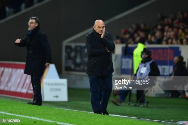 Frederic ANTONETTI / Christophe GALTIER Lille / Saint Etienne 16eme journee de Ligue 1 Photo Dave Winter / Icon Sport