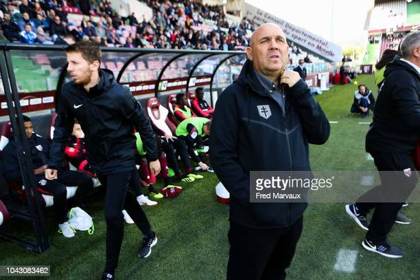 Frederic Antonetti coach of Metz during the Ligue 2 match between FC Metz and Le Havre on September 29 2018 in Metz France
