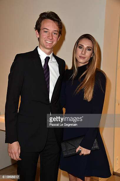 Frederic Arnault and a guest attend a Cocktail for the opening of Icones de l'Art Moderne La Collection Chtchoukineat Fondation Louis Vuitton on...