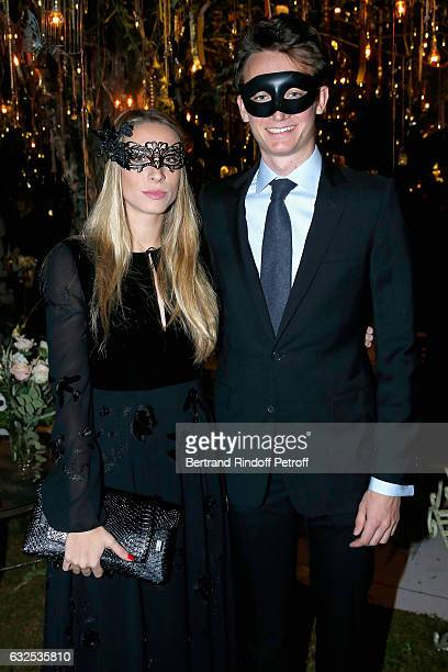 Frederic Arnault and his friend attend the Christian Dior Haute Couture Spring Summer 2017 Bal Masque as part of Paris Fashion Week on January 23...
