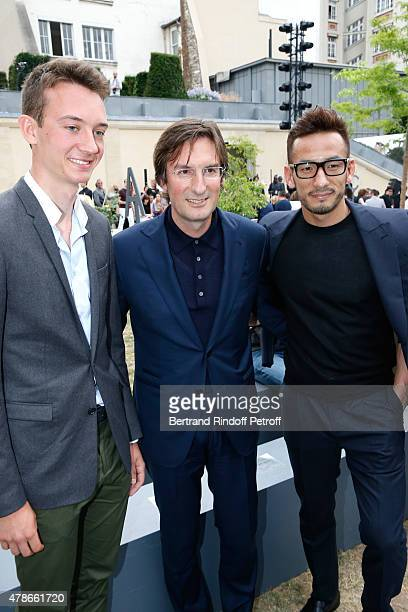 Frederic Arnault General Director of Berluti Pietro Beccari and Football Player Hidetoshi Nakata attend the Berluti Menswear Spring/Summer 2016 show...
