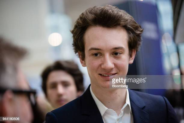 Frederic Arnault head of connected technologies at Tag Heuer International SA looks on during the inauguration of the LVMH startup accelerator at...