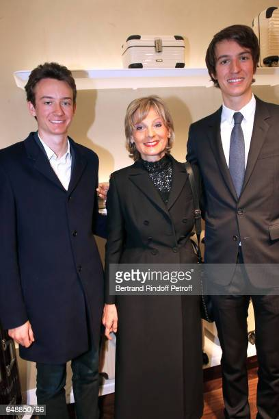 Frederic Arnault Helene Arnault and CEO of Rimowa Alexandre Arnault attend the Opening of the Boutique Rimowa 73 Rue du Faubourg Saint Honore in...