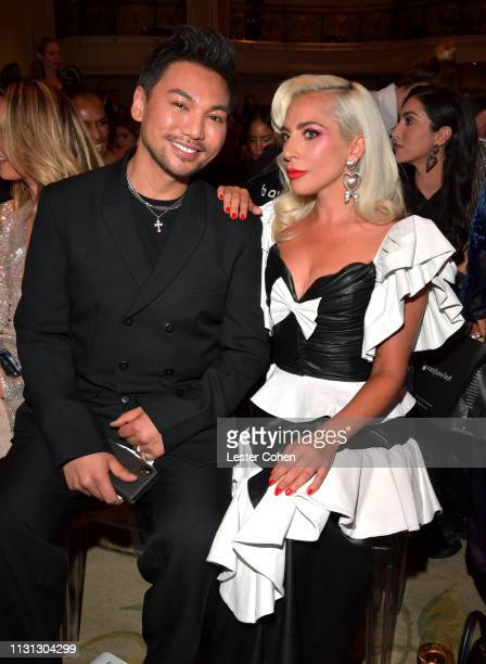 Frederic Aspiras and Lady Gaga with FIJI Water at the 5th Annual Fashion Los Angeles Awards on March 17 2019 in Los Angeles California