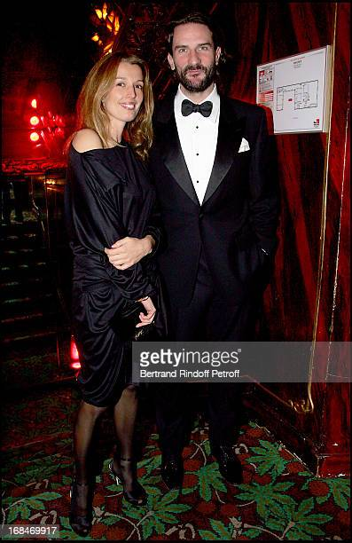 Frederic Beigbder and Amandine Cornette De Saint Cyr Dinner at the restaurant Maxim's in Paris to the benefit of the asssociation OTM which helps...