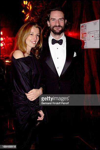Frederic Beigbeder and Amandine Cornette De Saint Cyr Dinner at the restaurant Maxim's in Paris to the benefit of the asssociation OTM which helps...