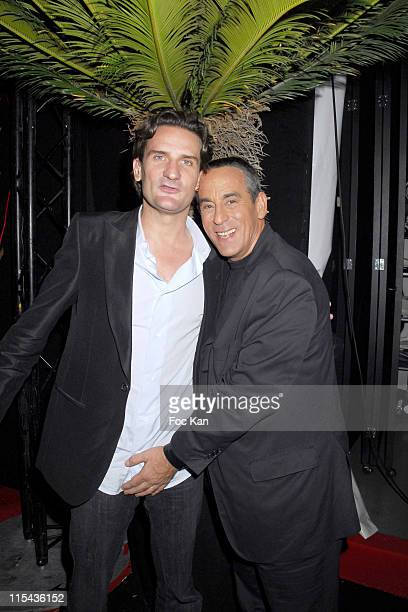 Frederic Beigbeder and Thierry Ardisson during 2006 Cannes Film Festival Frederic Taddei's 'La Party' Hosted by Canal Plus at VIP Room Palm Beach in...