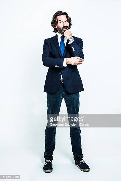 Frederic Beigbeder writer literary critic French film director and television host creator of prix de Flore where he chairs the jury photographed in...