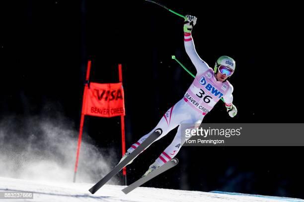 Frederic Berthold of Austria skis during the Audi FIS Alpine Ski World Cup Men's Downhill Training on November 30 2017 in Beaver Creek Colorado