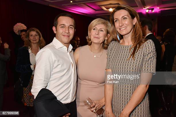 Frederic Charpentier from Shiseido journalist Anne Claire Coudray attend 'Prix de la Femme d'Influence 2016' Award Ceremony at Hotel Regency Hyatt on...