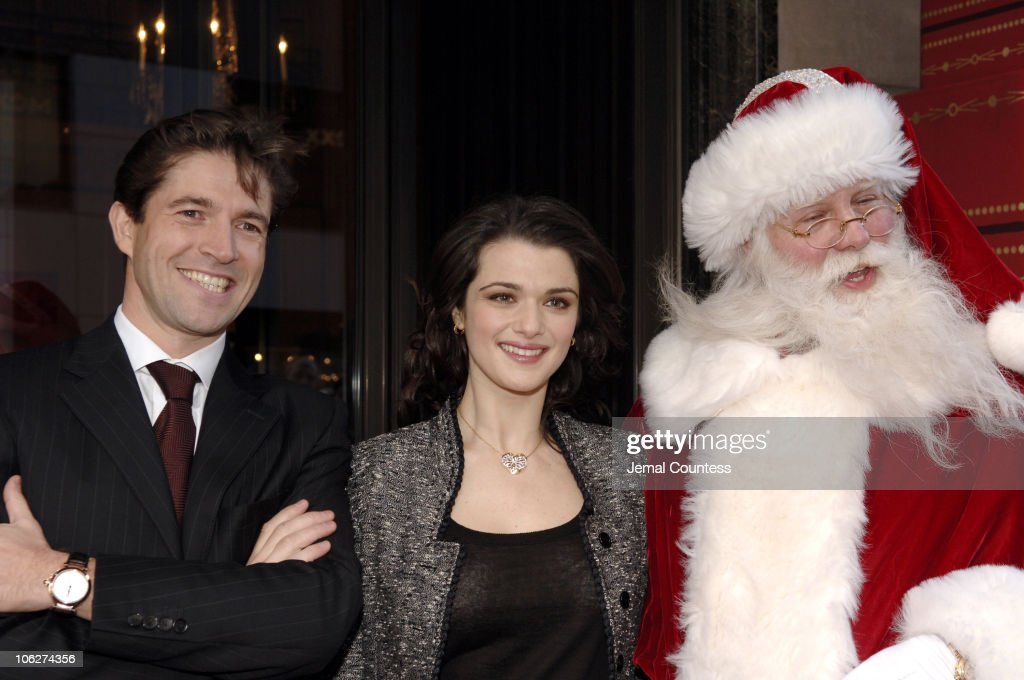 Frederic De Narp, President and CEO of Cartier, Rachel Weisz and the Cartier Santa