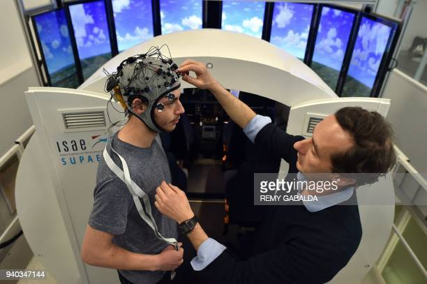 Frederic Dehais neuroergonomy teacher and director of the research laboratory at the Higher Institute of Aeronautics and Space sets a connected...