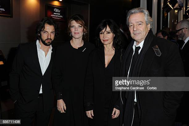 Frederic Diefenthal Gwendoline Hamon Evelyne Bouix and Pierre Arditi attend the 'Globes de Cristal' 2011 Awards at Le Lido in Paris