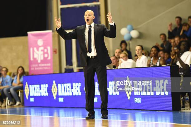 Frederic Dussart Coach of Villeneuve d Ascq during the women's french League final match between Montpellier Lattes and Villeneuve d'Ascq on May 5...