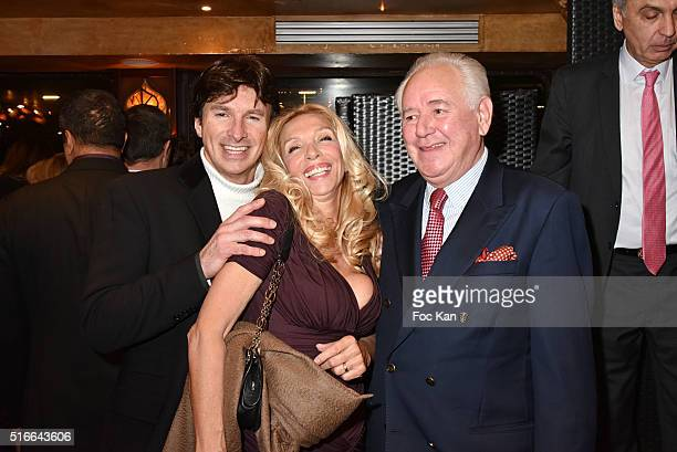 Frederic Ebel Sylvie Elias and Robert Rossi attend Springtime Celebration Party Hosted by Les Amis d'Ismail in Salons of the Maxime's Boat on March...