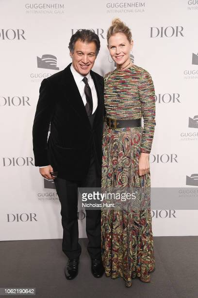 Frederic Fekkai and Shirin Von Wulffen attend the Guggenheim International Gala Dinner made possible by Dior at Solomon R Guggenheim Museum on...
