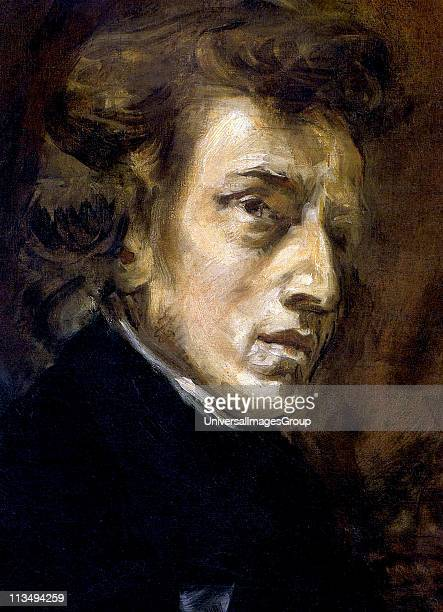 Frederic Francois Chopin 1810 1849 Polish composer and pianist portrait by Eugene Delacroix