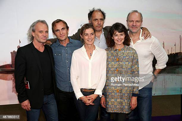 """Frederic Goupil Fabrice Gobert Anne Consigny Frederic Pierrot Constance Dolle and Aurelien Recoing attends the photocall of """"Les Revenants"""" as part..."""