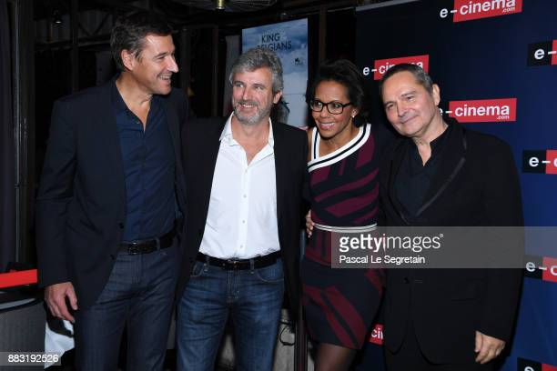 Frederic HouzelleRoland CoutasAudrey Pulvar and Bruno Barde attend 'ecinemacom' Launch Party on November 30 2017 in IssylesMoulineaux France
