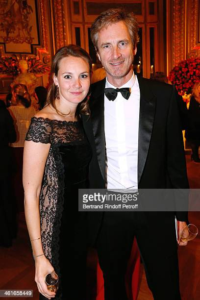 Frederic Jousset and his sister Alexandra Jousset attend Arop Charity Gala with 'Ballet du Theatre Bolchoi' Held at Opera Garnier on January 9 2014...