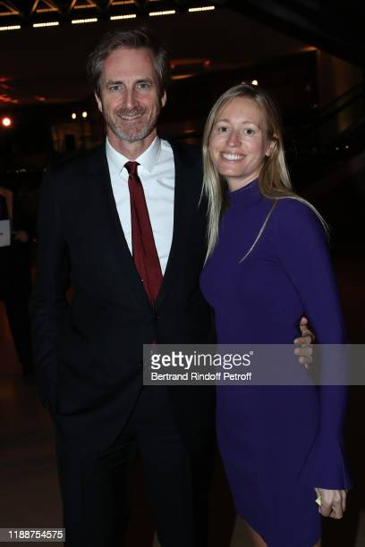 Frederic Jousset and his wife Marie Jousset attend the Grand Dinner of the Louvre on November 19 2019 in Paris France