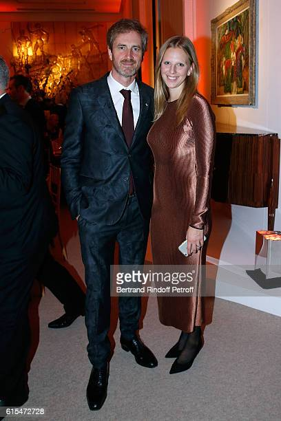 Frederic Jousset and his wife Teodora attend the Societe des Amis du Musee d'Art Moderne Dinner Party at the Musee d'Art Moderne on October 18 2016...